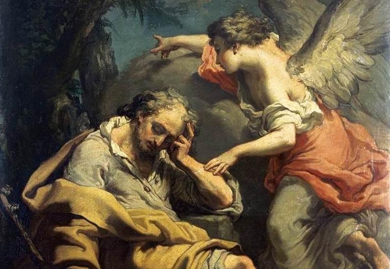 Image result for joseph receives a dream mary jesus