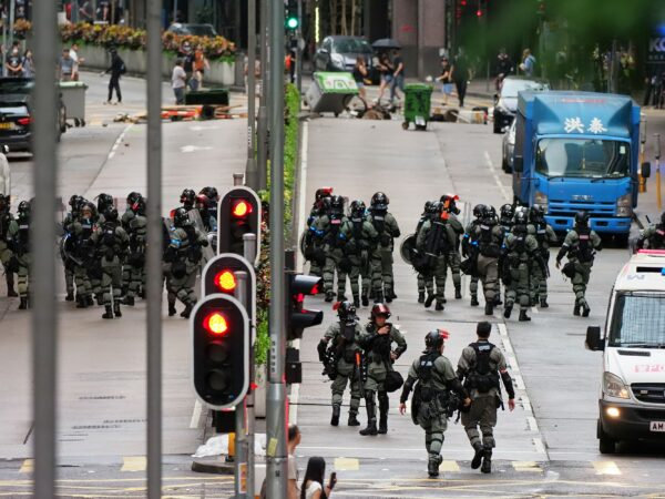 Reasoning about (Non)violence in the Hong Kong Protests